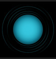 abstract blue circles vector image vector image