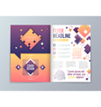 Abstract Brochure Flyer design template in A4 vector image vector image