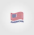 american flag symbol minimalist design vector image