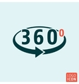 Angle 360 degrees icon isolated vector image vector image