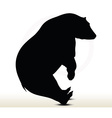 animal bear silhouette on white background vector image vector image