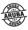aruba black round grunge stamp vector image vector image