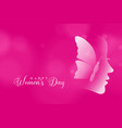 attractive happy womens day pink color background vector image