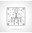 Bacteriophage icon flat line design icon vector image