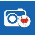 basket red commerce photographic camera icon vector image vector image
