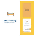 bed creative logo and business card vertical vector image vector image