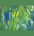 blue water and green plants abstract background