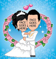 bride and groom template vector image vector image