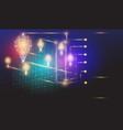 bulbs lighting polygon infographic business ideas vector image vector image