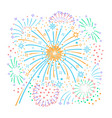bursting fireworks and stars vector image vector image