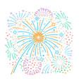 bursting fireworks and stars vector image