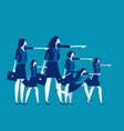 business team leadership concept vector image vector image