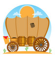 cartage carriage cowboy former transport and vector image vector image