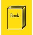 cartoon big book reading design isolated vector image
