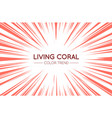 coral trendy color sun rays or explosion boom vector image vector image