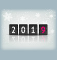 countdown timer 2019 for new year design vector image vector image