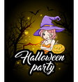 Design for Halloween party vector image