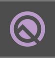 digital logo design template abstract vector image