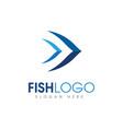 fish creative template vector image