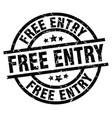 free entry round grunge black stamp vector image vector image