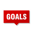 goals red tag vector image vector image
