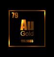 gold chemistry molecula atom aurum vector image vector image