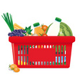 healthy shopping cart vector image vector image