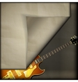 jazz guitar with old paper background vector image vector image