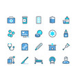 medical line icons pharmacy prescription and vector image