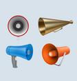 megaphone marketing loud speaker communication vector image