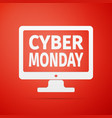 monitor with cyber monday on screen icon vector image vector image