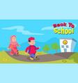 moslem kids back to school greeting vector image vector image