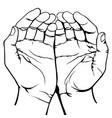 muslim prayer symbol simple on white background vector image vector image