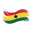 national flag of ghana designed using brush vector image vector image