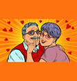 old couple in love valentines day vector image