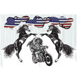 on the bike - native americans drive a motorcycle vector image vector image