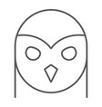 owl thin line icon animal and wild halloween vector image