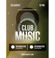 Party Flyer Club music flyer Dj lineup design vector image vector image