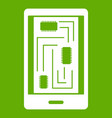 phone innards icon green vector image vector image
