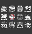 poker club and casino gambling game icons vector image vector image