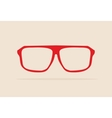 Red retro hipster glasses vector image vector image