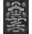 Retro Chalkboard banners and ribbon design