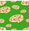 Seamless pattern pizza vector image vector image