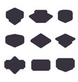 set of black badge shape vector image vector image