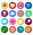 set of color universal icons vector image vector image