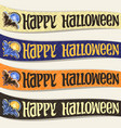 set of ribbons for halloween vector image vector image