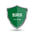 shield with flag of saudi arabia isolated vector image vector image