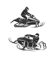 Snowmobiling Silhouette on white background vector image vector image