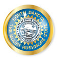 south dakota flag button vector image