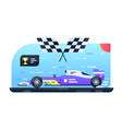 sport car for race vector image
